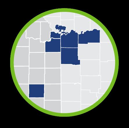 Health Forward Service Area Map